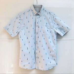 Artistry In Motion S Blue Button Down Short Sleeve